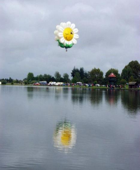 балон усмихнато цвете