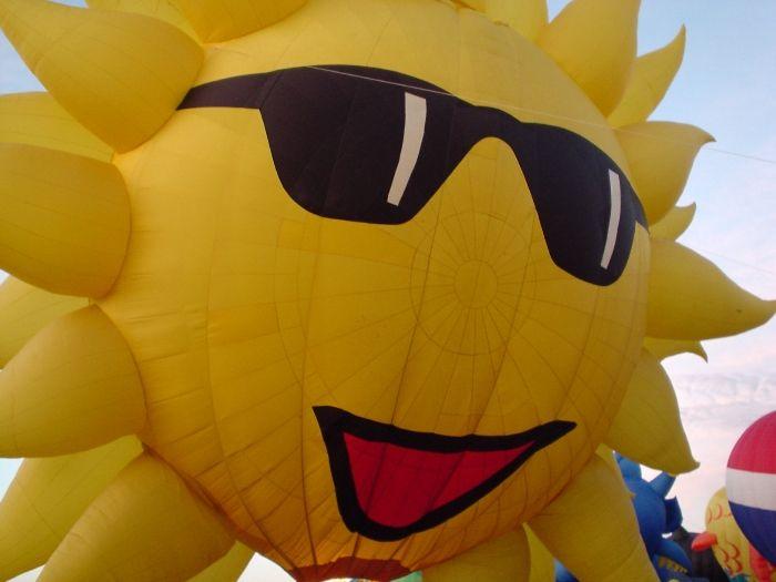 балон слънце
