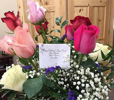 букет рози за св. Валентин