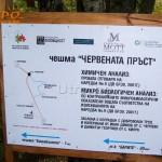 Туристическа карта табела - Червената пръст