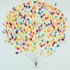 разноцветни балони от пръстови отпечатъци
