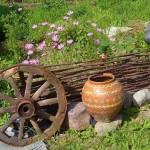 битов кът в градината