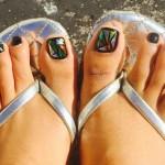 маникюр на краката - разбито стъкло