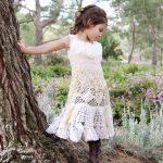 плетена бохо рокля